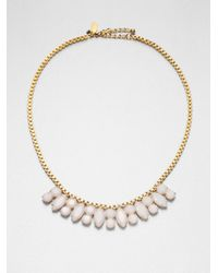 kate spade new york | Metallic Jeweled Chain Necklace | Lyst