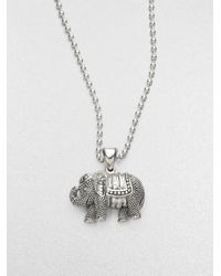 Lagos | Metallic Sterling Silver Elephant Pendant Necklace | Lyst