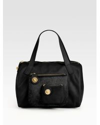 Marc By Marc Jacobs | Black Pocket Lambskin & Haircalf Duffle Bag | Lyst