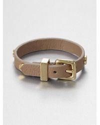 Marc By Marc Jacobs - Brown Leather Buckle Bracelet - Lyst