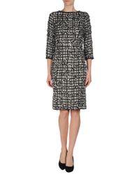 Marc Jacobs - Black Beaded Sleeve Floral Dress - Lyst