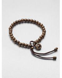 Michael Kors | Brown Beaded Stretch Bracelet | Lyst
