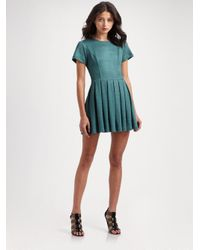 Opening Ceremony | Green Short-sleeve Pleated Dress | Lyst