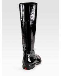 Prada - Black Tall Flat Sport Boots - Lyst