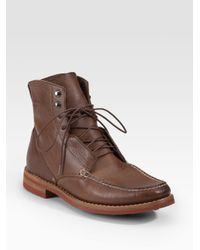 Rag & Bone | Brown Leather Moccasin Boots for Men | Lyst