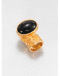 Saint Laurent - Metallic Arty Goldtone Ring - Lyst