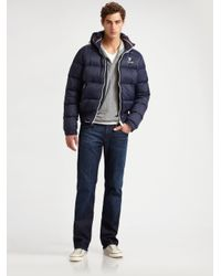 Scotch & Soda | Blue Nylon Puffer Jacket for Men | Lyst