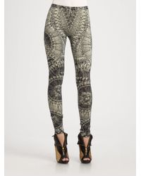 Alexander McQueen | Green Skeleton Print Leggings | Lyst
