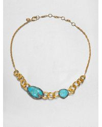 Alexis Bittar - Blue Turquoise Chain Link Necklace - Lyst