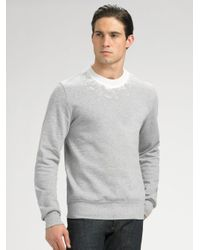 Dior homme Crewneck Sweatshirt in Gray for Men | Lyst