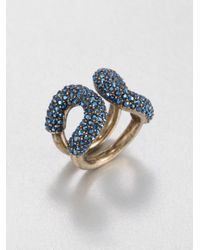 Giles & Brother | Blue Crystal Encrusted Cortina Ring | Lyst