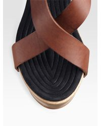 Givenchy - Brown Criss-cross Strappy Clog Sandals - Lyst