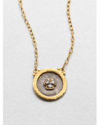 Gurhan   Metallic Imperial Diamond, 24k Yellow Gold & Sterling Silver Pendant Necklace   Lyst