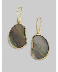 Ippolita - Black Shell 18k Gold Bean Earrings - Lyst