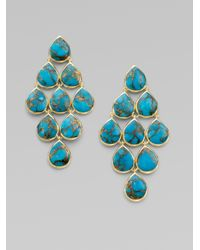Ippolita | Blue Bronze Turquoise 18k Cascade Earrings | Lyst