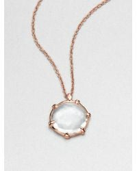 Ippolita | Pink Rosé Lollipop Clear Quartz Pendant Necklace | Lyst