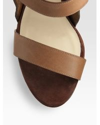 Jimmy Choo - Brown Halley Platform Sandals - Lyst