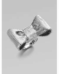 kate spade new york - Metallic Bow Ring - Lyst
