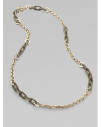 Marc By Marc Jacobs - Metallic Stone Accented Long Chain Link Necklace - Lyst