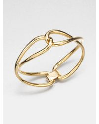 Michael Kors | Metallic Twisted Bangle Braceletgoldtone | Lyst
