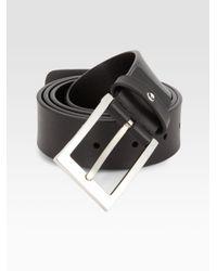 Montblanc - Black Classic Leather Belt for Men - Lyst