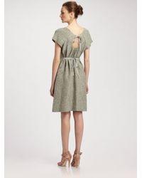 Moschino - Green Cutout Back Jacquard Dress - Lyst