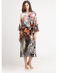 Natori - Multicolor Xianado Charmeuse Robe - Lyst