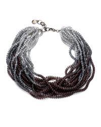 Pono | Metallic Caviar Necklacegunmetal | Lyst