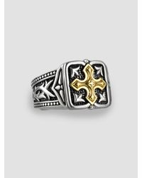 Scott Kay | Metallic Unkaged 18k Gold Cross Ring for Men | Lyst