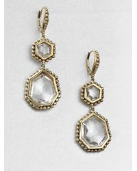 Stephen Dweck - Rock Crystal Bronze Drop Earrings - Lyst