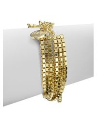 1AR By Unoaerre | Metallic Layered Box Chain Bracelet | Lyst