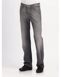 7 For All Mankind | Gray Austyn Dustrial Straight-leg Jeans for Men | Lyst