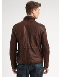 Andrew Marc | Gray Barrell Blaster Leather Jacket for Men | Lyst