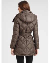 Burberry Brit - Brown Eddingly Hooded Puffer Jacket - Lyst