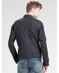 DIESEL - Black Nylon Jacket for Men - Lyst