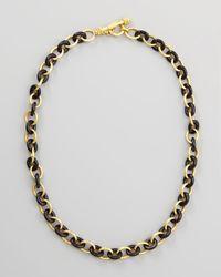 Elizabeth Locke - 19k Gold Black Jade Chain Necklace - Lyst
