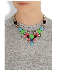 J.Crew - Metallic Dream Catcher Crystal Necklace - Lyst