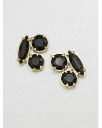 kate spade new york | Black Cluster Stud Earrings | Lyst
