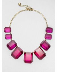 kate spade new york | Pink Graduated Bead Necklace | Lyst