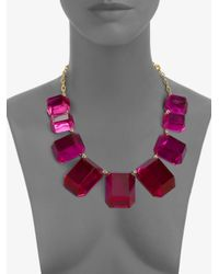 kate spade new york - Pink Graduated Bead Necklace - Lyst