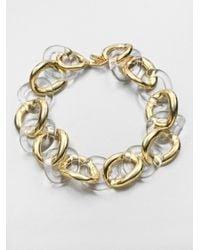 Kenneth Jay Lane - Metallic Resin Polished Link Necklace - Lyst