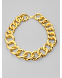 Kenneth Jay Lane | Metallic Chunky Chain Necklace | Lyst
