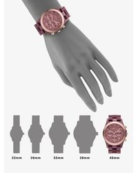 Marc By Marc Jacobs - Pink Rose Gold Ion-plated Chronograph Watch - Lyst