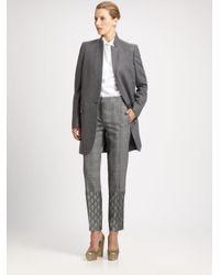 Stella McCartney Gray Wool cashmere Standcollar Coat