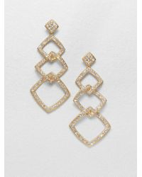 Adriana Orsini | Metallic Diamond-shaped Link Earrings | Lyst