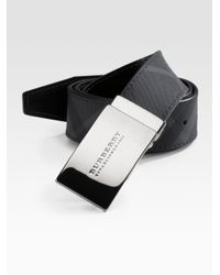 Burberry | Black Signature Belt for Men | Lyst