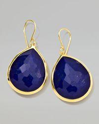 Ippolita | Blue 18k Gold Rock Candy Large Lapis Teardrop Earrings | Lyst