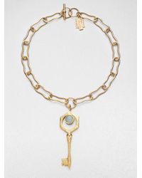 Kelly Wearstler - Metallic Larimar Covet Key Pendant Necklace - Lyst