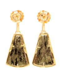 Kimberly Mcdonald - Green 18kt Yellow Apache Gold And Diamond Earrings - Lyst