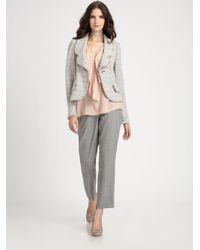 St. John | Gray Meringue Tweed Jacket | Lyst